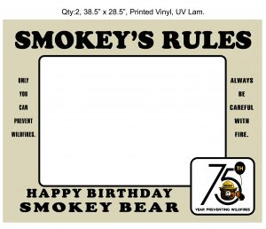 Va Dep of Forestry-Smokey's Rules-Printed Vinyl